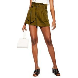 TOPSHOP   Khaki Utility Cargo Shorts